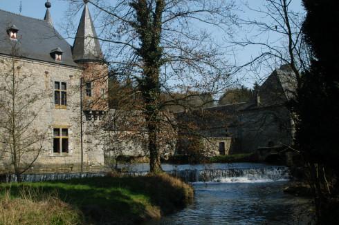 Spontin castle in Yvoir