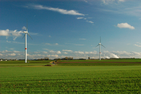 Wind farm in Villers-le-Bouillet