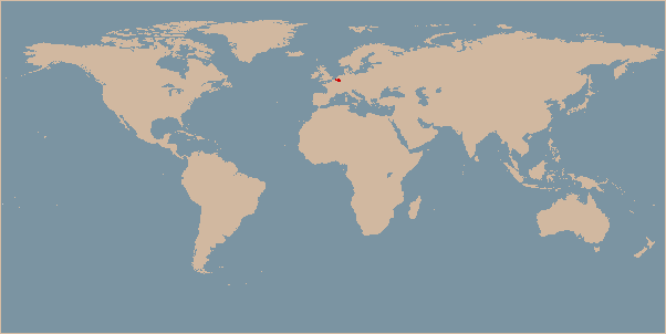 Belgium on the world map
