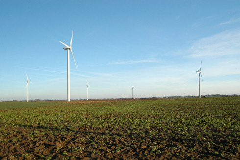 Wind farm in Sombreffe
