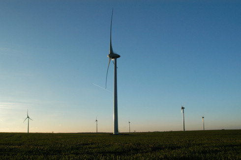 Wind farm in Marbais