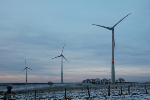 Wind farm in Amel