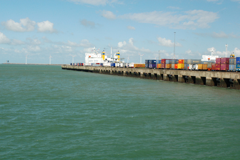 Turbines on Jetty in Zeebrugge