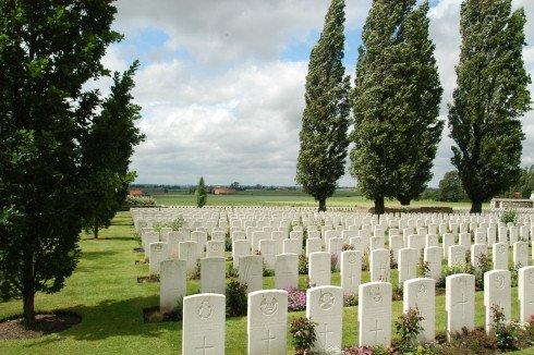 Tyne Cot Cemetery in Passendale